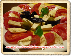 Hot Tomato And Mozzarella Salad