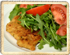 Veal Cutlets With Rucola Salad