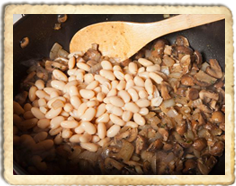 Borlotti Beans With Mushrooms